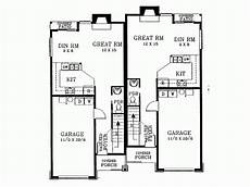 narrow lot duplex house plans eplans new american house plan narrow lot duplex front