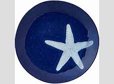 Merritt   Melamine Round Salad Plate   Speckled Nautical