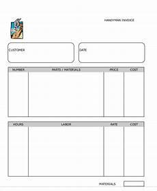 handyman receipt template handyman invoice template 5 free word pdf format