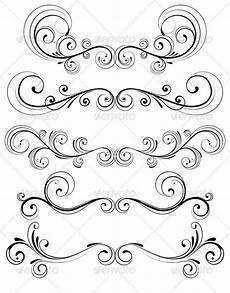 handwriting cursive worksheets 22078 floral decorative elements by pixelembargo graphicriver
