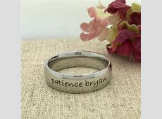 mens stainless steel purity ring esty ? Jewelry Guide