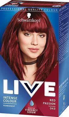 rote haarfarben palette 043 hair dye by live live colour hair dye