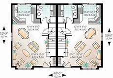 1200 sq ft duplex house plans plan 21422dr duplex with matching units under 1 200