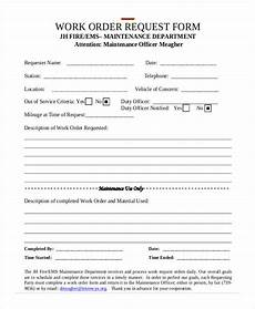 free 5 sle maintenance work order forms in pdf word