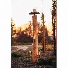 edelrost kerzenhalter natur stamm aus akazienholz