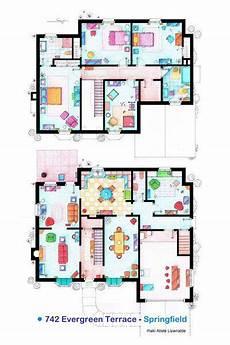 simpsons house floor plan the simpsons simpson s house floor plan 742 evergreen