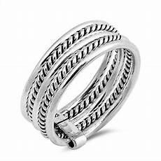 bali rope design bar hold wedding ring new 925 sterling