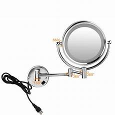 7x magnification led lighted wall makeup mirror led bathroom ebay