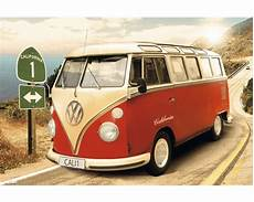 vw bulli t1 kaufen deko panel volkswagen bulli t1 bunt 60x90 cm bei hornbach