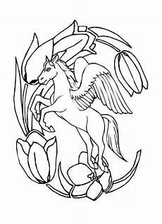 Malvorlagen Wings Unicorn Pegasus Unicorn Coloring Pages