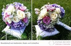 Brautstrauß Mit Hortensien - brautstrauss rund hortensien nelken schleierkraut