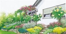 terrassenumrandung mit pflanzen terrassenbeete auf hohem niveau garten garten am hang