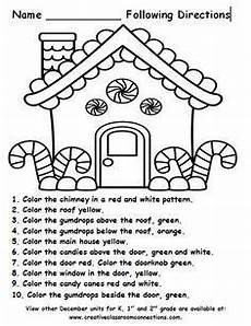 directions worksheets ks1 11570 free gingerbread house for a following directions activity more december units for k 1st and