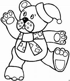 teddy mit schleife ausmalbild malvorlage kinder