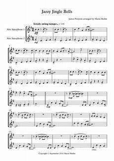 download jazzy jingle bells alto saxophone duet sheet