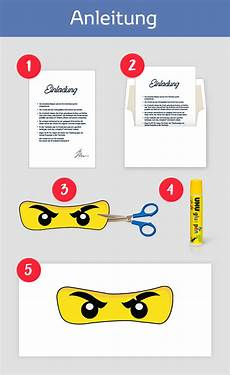 Ninjago Malvorlagen Augen Anleitung Ninjago Einladungskarten Zum Kindergeburtstag Oder