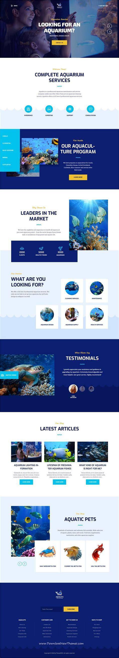aqualots v1 0 aquarium services wordpress theme