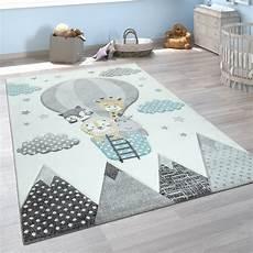 teppich blau grau kinderteppich 3d tiere ballon wei 223 blau grau teppich de