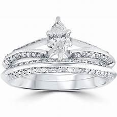 3 4 ct marquise diamond engagement wedding ring 14k