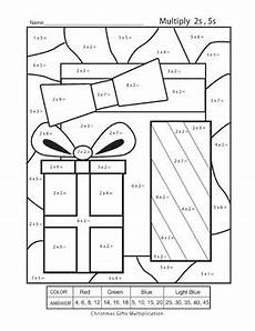multiplication color by number printable worksheets free 16318 multiplication color by numbers gifts 2s and 5s printable worksheet