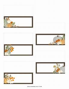 thanksgiving place cards printable designer blogs