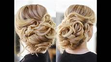 easy wedding updo with curls prom hairstyles hair tutorial