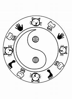 Malvorlagen Yin Yang Kita Yin And Yang Coloring Pages Coloring Pages 2019