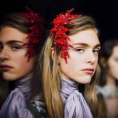 milan fashion week beauty hair accessories popped up at