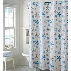 seashell shower curtain hookless blue gray seashell peva shower curtain walmart