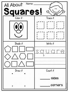 kindergarten 2d and 3d shapes worksheets shapes