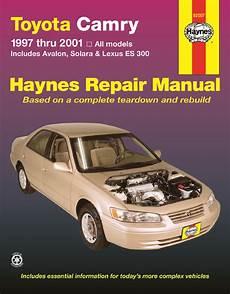 online auto repair manual 2007 toyota camry solara engine control 92007 haynes repair manual toyota camry avalon solara lexus es 300 97 01 ebay