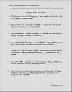ratios word problems sixth grade math common core worksheets abcteach