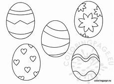 printable easter eggs for coloring page
