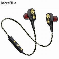 Wireless Stereo Dual Bluetooth Sport Earphone by Moreblue Bt13h Dual Driver Wireless Bluetooth Headphones