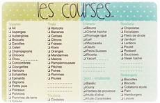 Free Imprimables Liste De Course Le Des