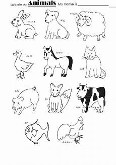 animal worksheets to colour 14048 animals color