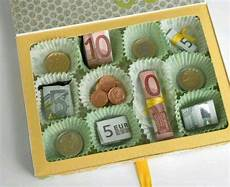geld liebevoll verpacken pralinen geschenke geschenke