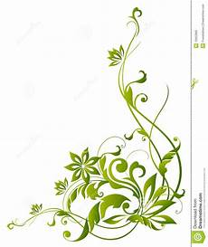 Green Vines And Flower Stock Illustration Illustration Of