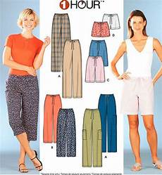 schnittmuster pumphose damen misses shorts sewing pattern 5 sizes plus