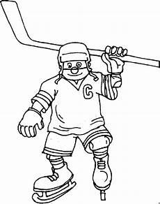 Malvorlagen Eishockey Ausmalen Froehlicher Eishockeyspieler Ausmalbild Malvorlage Sport