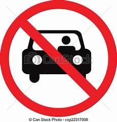 interdiction voiture non voiture signe interdit stationnement cercle ou