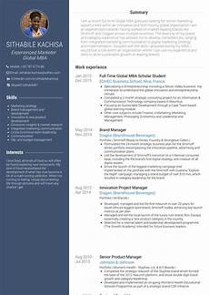 mba resume sles and templates visualcv