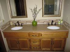 Bathroom Ideas With Oak Cabinets by Master Bath Vanity With Granite Rubbed Bronze