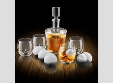 On The Rock Glass Whiskey Decanter Set   Wine Enthusiast