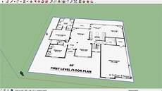 sketchup house plan sketchup house 01 import floor plan youtube