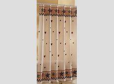 Hearts & Stars Shower Curtain   Primitive shower curtains