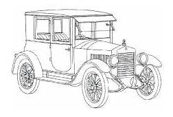 Ford Model T Antique Car Coloring Pages  Best Place To Color