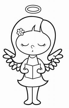 Bilder Engel Malvorlagen Kostenlose Malvorlage Engel Singender Engel Zum Ausmalen
