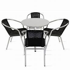 Table Ronde Aluminium 4 Fauteuils Terrasse
