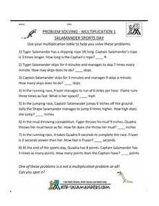division worksheets salamander 6357 problem solving multiplication salamander sports day a problem solving multiplication
